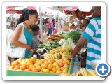 Barbadians enjoy local fruit and vegetables.