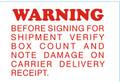 "2 x 3"" Shipping Labels - ""Warning"""