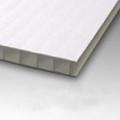 10mm Corrugated plastic sheets: 48 X 48: 100% Virgin White : Single pc