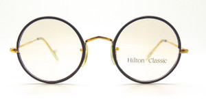 Hilton Classic True Round Glasses With Black 44mm Rims from www.theoldglassesshop.com