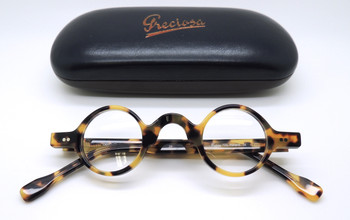 Frame Holland small round glasses in blonde tortoiseshell finish from www.theoldglassesshop.com