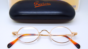 Hand Made in Holland Oval Gold Preciosa Frames  from www.theoldglassesshop.co.uk