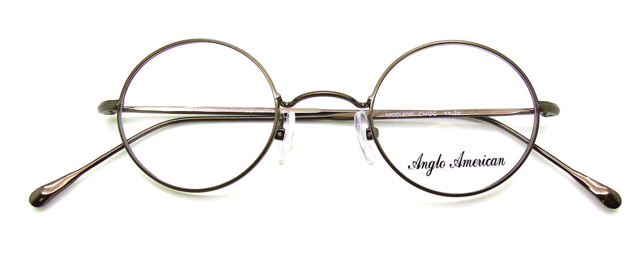 66af6aa18afe Anglo American 40P Round Metal Frames Colour CHOC John Lennon Style