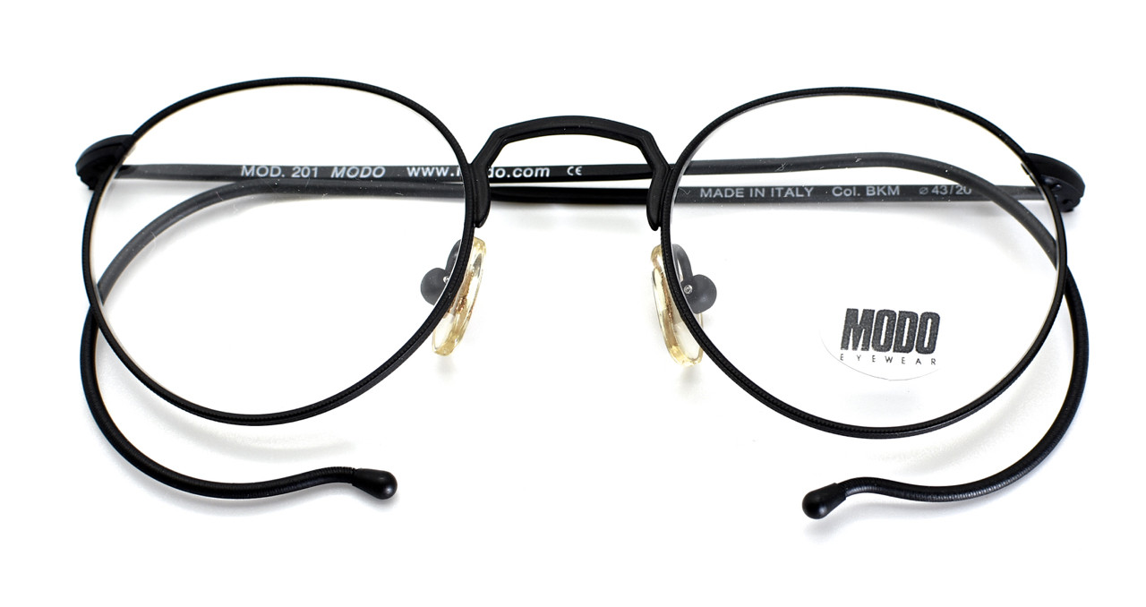 61dab04218e Black 90s Modo Glasses With Curled Temples   Textured Finish
