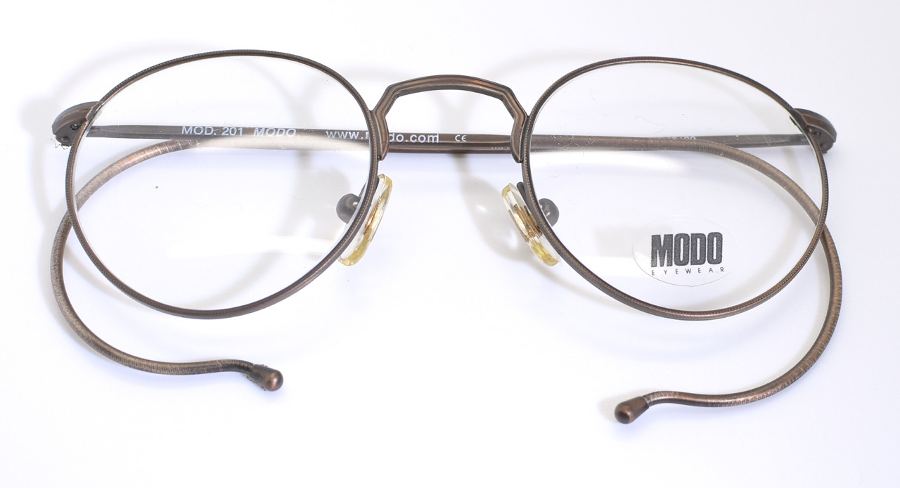 07e5df43e21 Loading zoom. Bronze Colour Modo Frames. Old Style Glasses With Hooked Ear  Pieces. Eyewear With Cable Temples. 90 s Vintage Glasses Frames