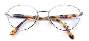 Retro oval shaped glasses by Fendi