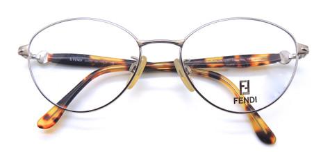 Retro oval shaped glasses by Fendi