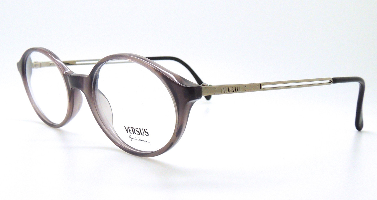 46f9214f0df Versace Designer B77 Grey Oval Acrylic Prescription Glasses 48mm Lens.  Loading zoom. Image 1