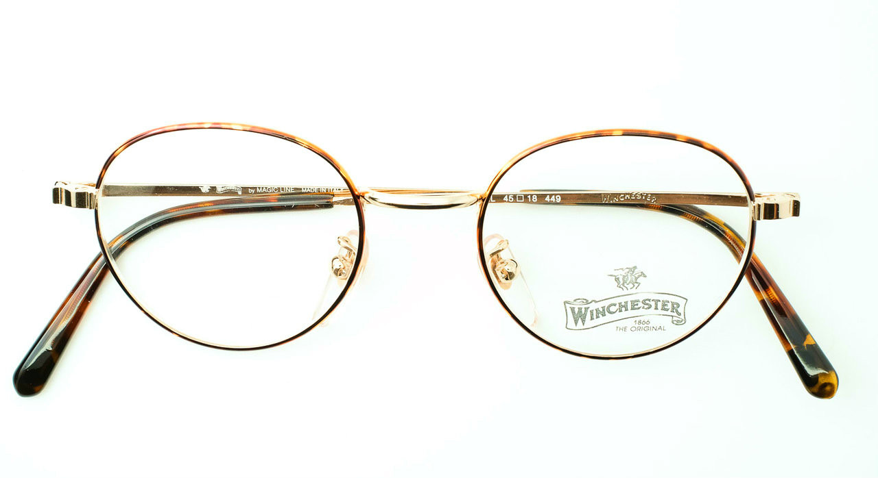 1e7d9ad6bd80 Beautiful Classic Panto Shape Frame made In Italy By Winchester Gold and  Tortoiseshell Finish Model Bull