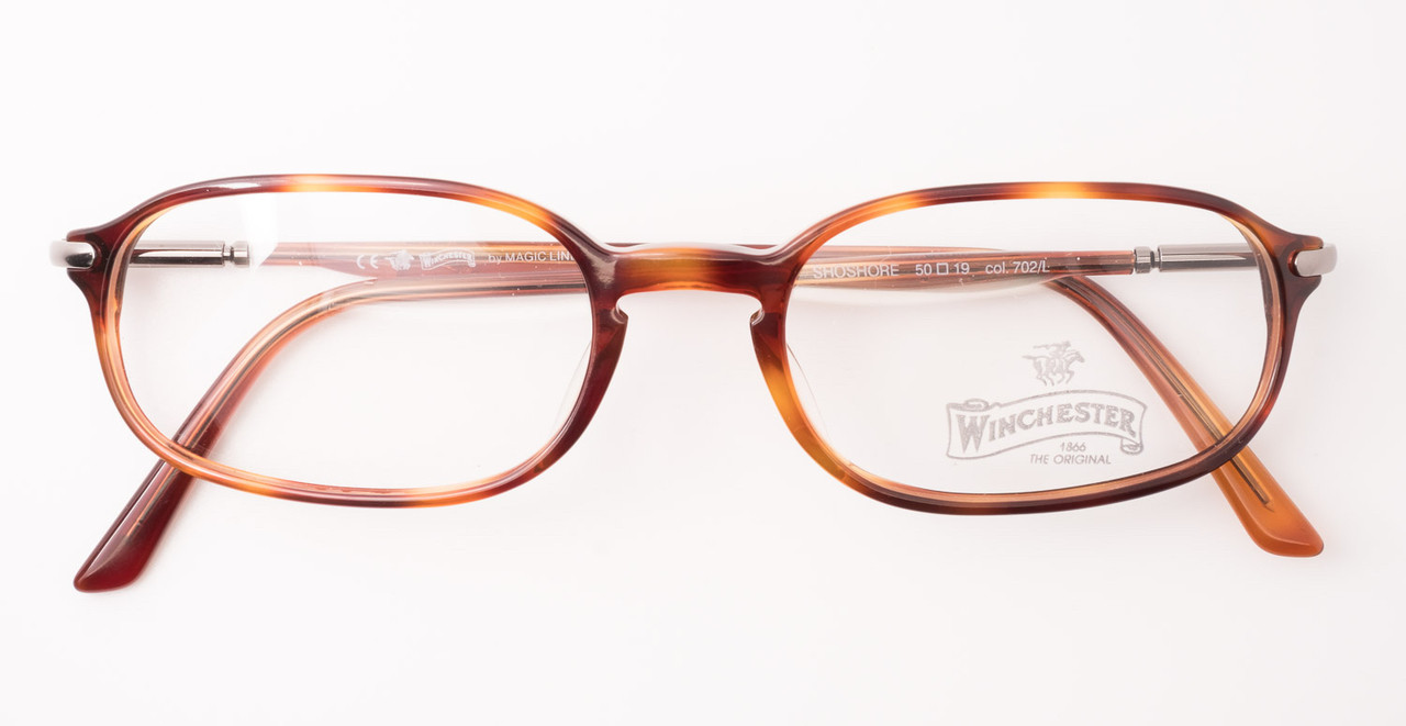 3cdc337094 Classic Rectangular Turtle Acrylic Designer Glasses By Winchester Shoshore  Model Metal Temples 1960s Style