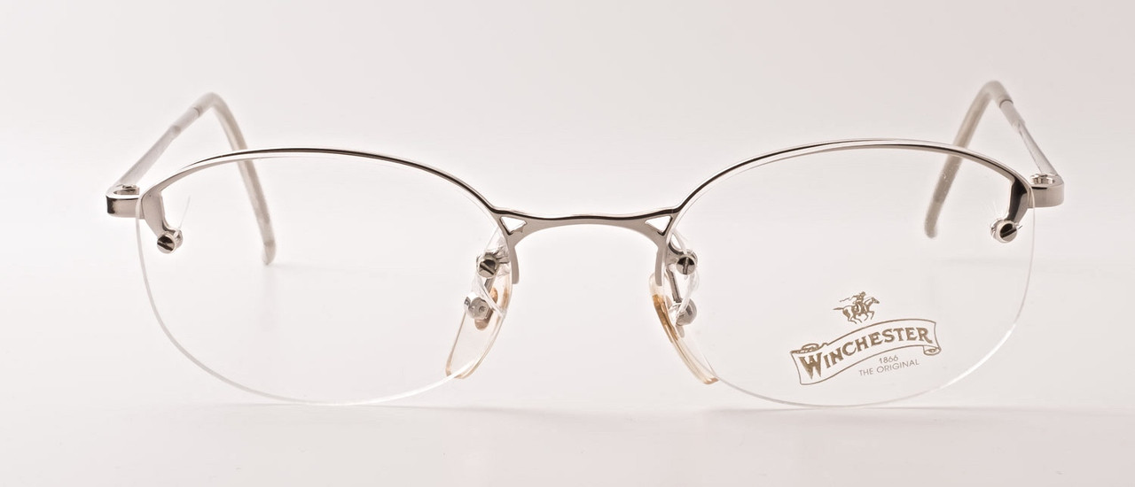 0a97db71fb2 Vintage Half Rim Style Italian Frames in Silver By Winchester Joint ...