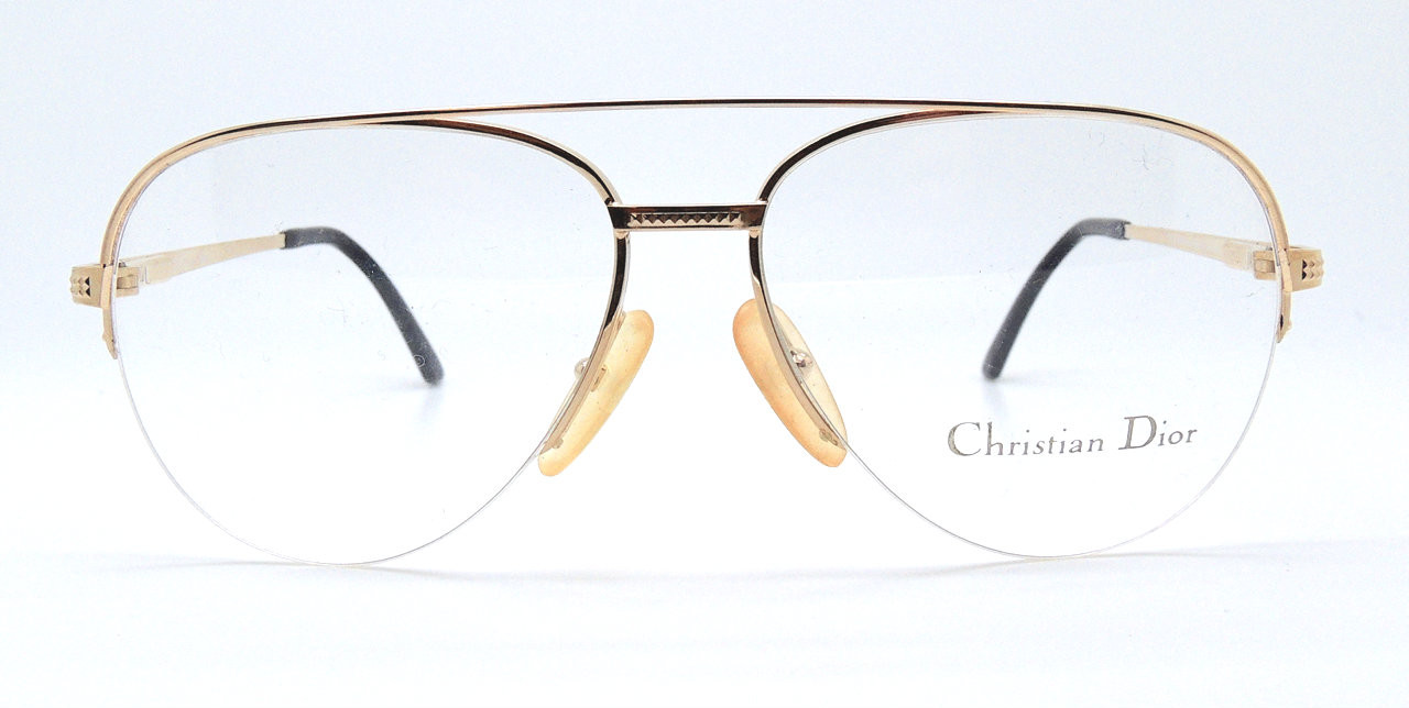 b84e10bd2fa2 Vintage 80 s Christian Dior Gold Aviator Prescription Glasses Frames Made  In Austria. Loading zoom