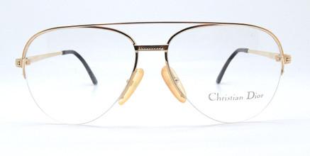 Christian Dior 80's Gold Aviator Frames 2792 40