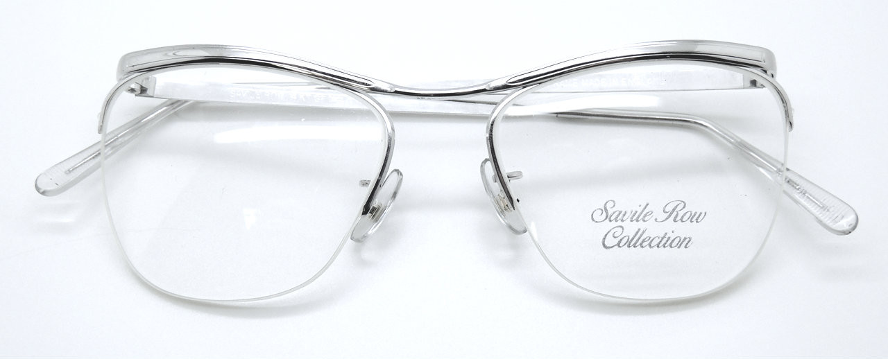 0f7b27250f23 VINTAGE SAVILE ROW DUBAR 14k Gold Filled Half Rim Prescription Frame By  Algha In Silver Finish