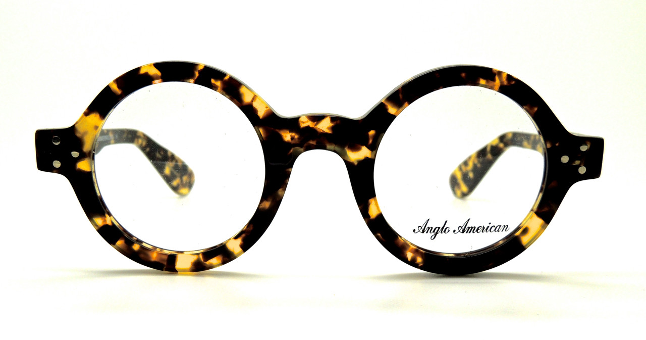 0a0febf407e1d Anglo American 180E Thick Rimmed Round Glasses Tortoiseshell Effect (TOSH)