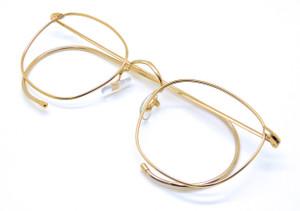 Vintage Savile Row 14kt Gold Filled Quadra Glasses At www.theoldglassesshop.co.uk