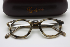 Frame Holland 783 Hand Made Preciosa Quadra Shaped Horn Effect Acetate Glasses
