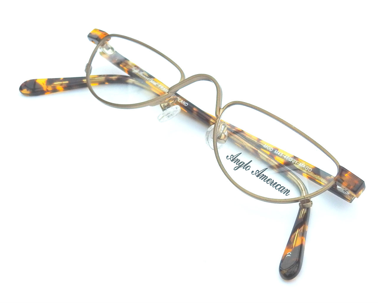 a7f7e18020c4 Half Moon Anglo American M43 Eyewear Old Gold Finish Executive Half ...