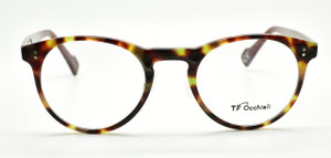 TF Occhiali 1318 Tortoiseshell Effect Panto Shaped Glasses At www.theoldglassesshop.co.uk