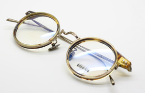 OUTSTANDING Les Pieces Uniques ENEA Titanium Round CLASSIC Glasses Gold  and Light Tortoiseshell