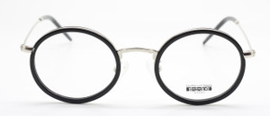 Les Pieces Uniques JOE Hand Made Round Silver Black Combination Eyewear