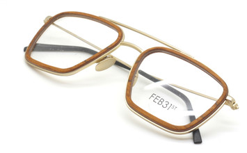 Brilliant Wood And Metal Combination Spectacles By Feb31st