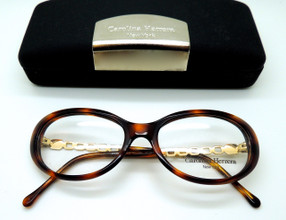 Vintage Oval Eye Glasses In Turtle Effect Acrylic At The Old Glasses Shop