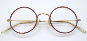 True Round Vintage Glasses With Chestnut Rims By Hilton