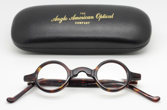 Anglo American Groucho Small True Round Spectacles In Tortoiseshell At The Old Glasses Shop