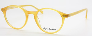 Yellow Acrylic Anglo American 406 Classic Panto Glasses Frames AA 406 OP7