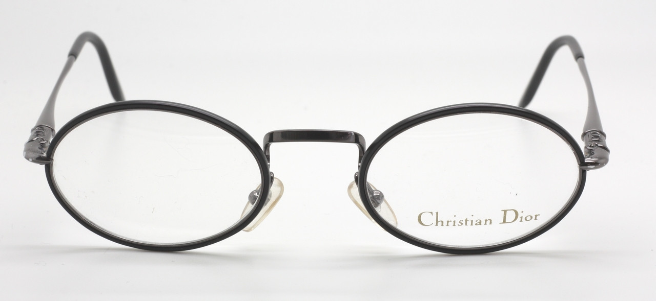 4c912c1cbc5 ONLY TWO LEFT! Vintage Christian Dior Classic Oval Glasses 2055 Black And  Grey