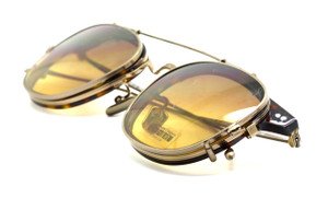 Lightweight Vintage Style Titanium Glasses And Sun Clip At www.theoldglassesshop.co.uk
