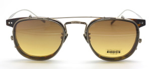 Designer Italian Spectacles In Titanium With Matching Sun Clip By Les Pieces Uniques At The Old Glasses Shop