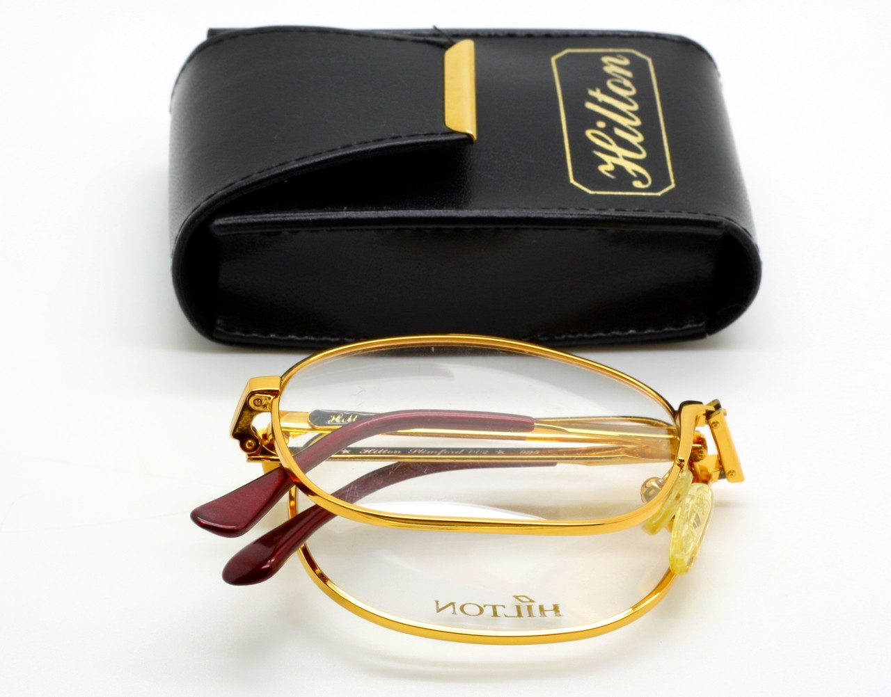 e8f30e7ae1 ONLY 1 LEFT ! Hilton Full Size 24kt Gold Plated Luxury Glasses that ...