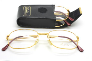 Hilton Slimfold 002 995 Indian Gold folding glasses at www.theoldglassesshop.co.uk