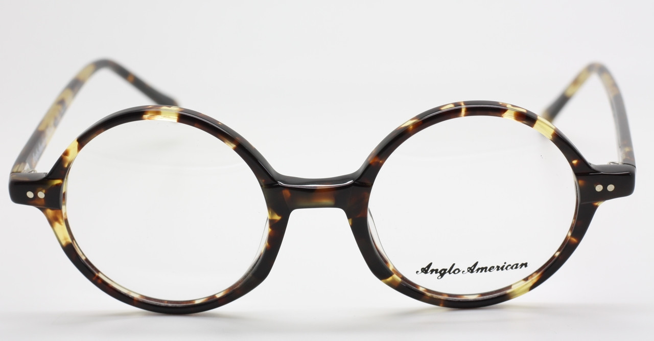 9945cb18f9 Anglo American 400 TOSH Classic Round Tortoiseshell and Yellow Colour  Acrylic Glasses