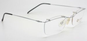 Mazzimo Italian glasses in rimless silver