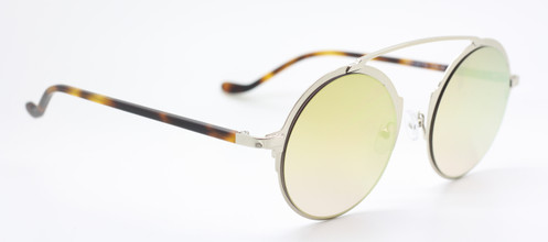 Large Round Eye Sunglasses By Les Pieces Uniques In Silver, Gold & Tortoiseshell At www.theoldglassesshop.co.uk