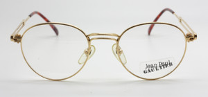 Jean Paul Gaultier 55-4176 Panto Shaped Frames In Shiny Gold At www.theoldglassesshop.co.uk