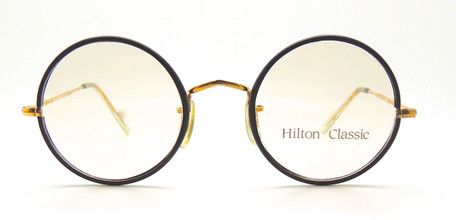 Hilton Classic True Round Glasses With Black 47mm Rims from www.theoldglassesshop.com
