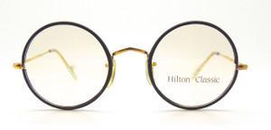 Hilton Classic True Round Glasses With Black 49mm Rims from www.theoldglassesshop.com