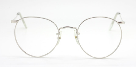 Vintage Panto Shaped Silver Frame By Savile Row At The Old Glasses Shop