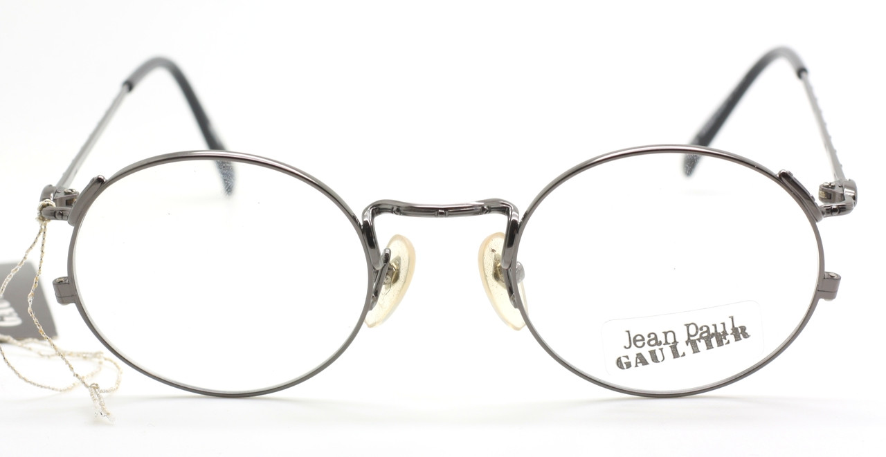 73ad0f9aa45e Jean Paul Gaultier 3176 Vintage Almost Round Glasses In A Gunmetal Finish -  Last One!