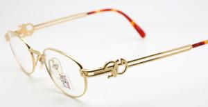 Shiny Gold Oval Jean Paul Gaultier 5101 Vintage Designer Glasses