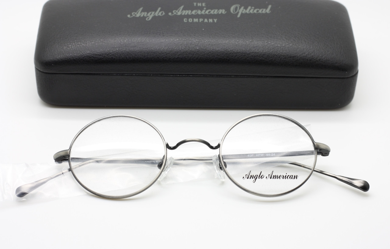 Classic Anglo American 40P Round Glasses Frames In An Antique Pewter ...