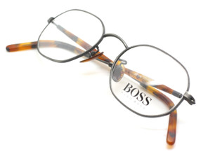 Hexangonal Hugo Boss 4765 Pewter and Tortoiseshell glasses from www.theoldglassesshop.co.uk