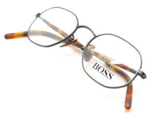 Hexangonal Hugo Boss 4765 Pewter and Tortoiseshell glasses from www.theoldglassesshop.co.uk
