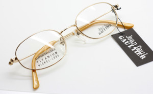 Jean Paul Gaultier 0027 in soft gold from www.theoldglassesshop.co.uk