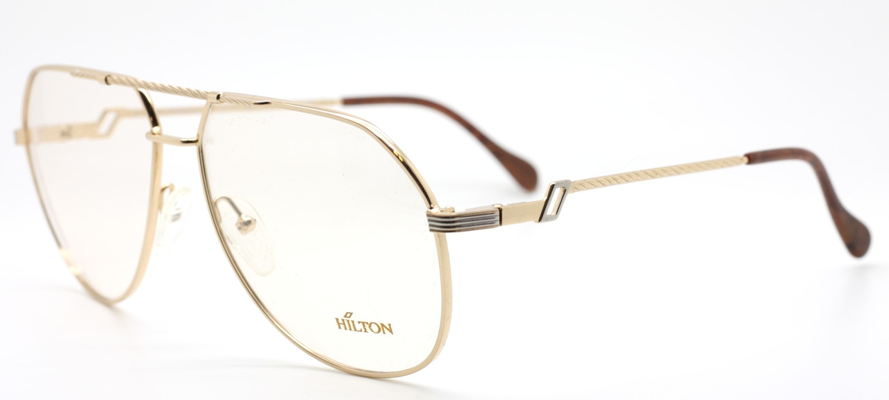 04b92aa3db VINTAGE Hilton Exclusive 14.2 Large Eye 20kt Aviator Frame In A ...