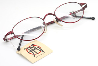 Jean Paul Gaultier 0006 designer frames in red from www.theoldglassesshop.co.uk